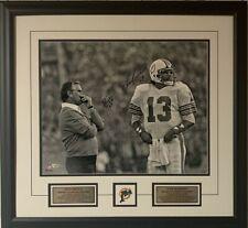Dan Marino & Don Shula Miami Dolphins Autographed 16 x 20 Signed Photo Framed