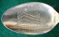 Sterling Souvenir Spoon Post Office Cincinnati, Ohio, ca. 1900