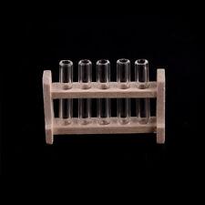 Dollhouse Miniature Wood Test Tube Rack Tubes Laboratory Decoration 、Fad