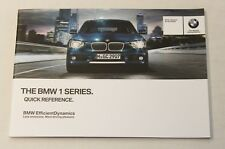 GENUINE BMW 1 SERIES F20 F21 2011-2017 QUICK REFERENCE HANDBOOK GUIDE MANUAL