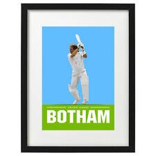 More details for ian botham cricket art print - poster