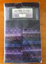 Jelly Roll Amethyst Royale Purple Fabric 100% Cotton 40 Piece Karot Gems Strips