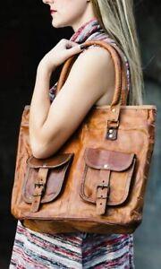 Women's Vintage Handcrafted Genuine Leather Lady Shoulder Bag Handbag Tote Purse