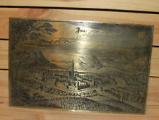 Vintage German Jena cityscape metal wall hanging plaque