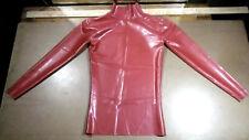 Latex rubber shirt red Latexskin medium mens