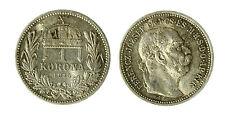 pcc1840_79) HUNGARY Franz Joseph I 1 Korona 1915 AG Toned