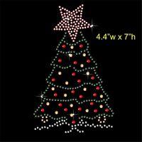 Christmas Tree Rhinestone/Diamante Transfer Hotfix Iron on Motif +free gift