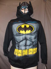 boys batman costume sweatshirt hoodie jacket XL 18-20 nwt