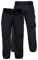 MENS DUKE TAYLOR SOFT SMART TROUSER JEANS BLACK BIG SIZES 42 TO 56 BIG SIZES
