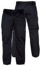 MENS DUKE TAYLOR SOFT SMART TROUSER JEANS BLACK BIG SIZES 42 TO 56 SPECIAL PRICE