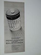 Advertising Pubblicità 1970  BALENCIAGA LE DIX e QUADRILLE
