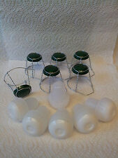 Champagne plastic stopper with Champagne green topped cage pack of 6