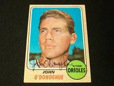 John O'Donoghue Orioles Autograph Signed 1968 Topps Card #456 K