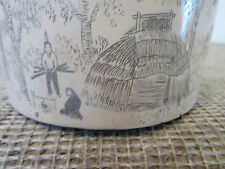 Nautical Decor, Faux Scrimshawed Ivoryite Box