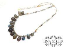 Echtschmuck-Halsketten aus Sterlingsilber Turmalin