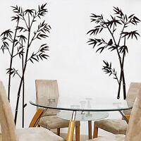 Diy Bambou Autocollant Mural Décoration Amovible Décor de Plantes Artisanat Art