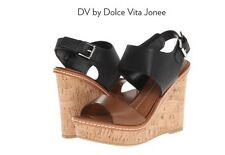 NEW Dolce Vita Jonee Colorblock Cork Wedge Heels Size 6