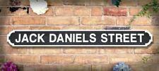 JACK DANIELS STREET 120cm Retro Vintage Wooden Road Sign Whisky Pub Bar FREE P+P