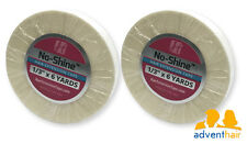 """WALKER No Shine Hair Extension Tape Roll 1/3"""" x 6 yards wig hairpiece - 2 rolls"""