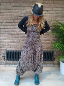 HAREM PANT BANDEAU BOOB TUBE JUMPSUIT PLAYSUIT ALL IN ONE WOMENS Free Size 8-16