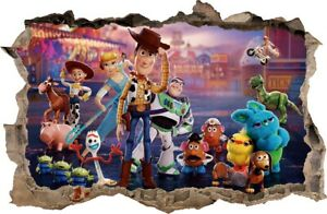 WALL STICKERS TOY STORY 4 HOLE IN THE WALL decorative sticker to the room 78