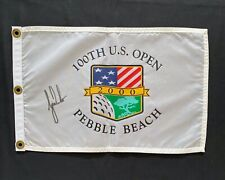 Super Rare 4 PGA Golf Flags Signed Autographed by TIGER WOODS! Tiger Slam W/COA