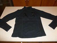 Armani Exchange A|X Women's Pullover Running Jacket Yoga 1/4 Zip Black M Medium