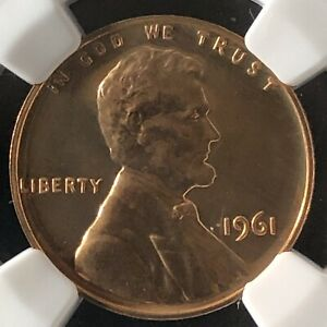 1961 1C RB PROOF Lincoln Memorial One Cent NGC PF66RB        3512465-010
