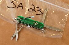SA23 VICTORINOX Swiss Army Knife translucent green SIGNATURE ball point pen