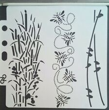 Bee Bird Bamboo Stencil Scrapbooking Card Making Airbrush Painting Home Decor