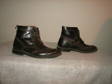 Stafford Men Brown Leather Wing Tip Ankle Boots Shoes 8 M