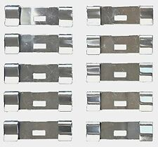 10 Pack VERTICAL BLIND Vane Saver ZINC FLAT REPAIR CLIPS ~ Fixes Broken Holes