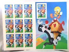 1997 Sylvester & Tweety Full Sheet 32c Stamps
