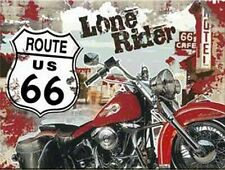 Route 66 Lone Rider Magnet Refrigerator, 8 cm, New