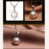 süß schmuck neue frauen Perle halskette versilbert anhänger