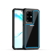For Samsung Galaxy S20+ plus 5G Dual Layer Armor Frame Clear Case Rugged Cover