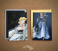 2018/2019 Disney Designer Collection CINDERELLA Art Note Card Premier Masquerade