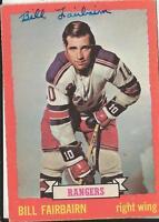 Bill Fairbairn 1973 OPC Autograph #41 Rangers