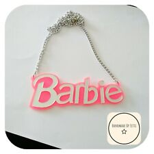 Barbie Acrylic Necklace🌺 Pink ✨Large🌼 Quirky