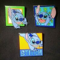 Disney Stitch Square Pins, Set of 3