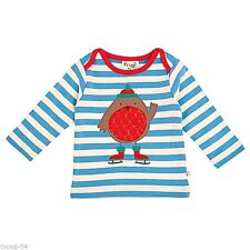 BRAND NEW Designer Frugi Red Robin 100% Organic Cotton Top Baby 3 - 6 Month
