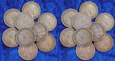 Preußen Lot 10 x 5 Mark Silbermünze Wilhelm I und II. ss und besser, Silber 900