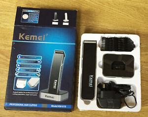 A KEMEI KM-619 PROFESSIONAL HAIR CLIPPER c/w ORIGINAL BOX + INSTRUCTIONS, VGC