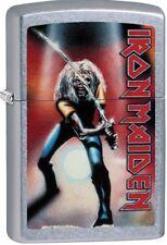 Zippo 2018 Iron Maiden 1981 Live Heavy Metal Army Street Chrome 29575 ***NEW***