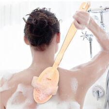 Shower Back Scrubber Bristles Brush Scrub SPA Bath Body Long Handled Cleaning US