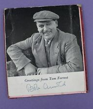 Bob Arnold Autographed Card - Tom Forrest, The Archers