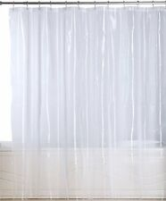 """Mildew Resistant Shower Curtain Anti-Bacterial Liner Waterproof 72""""x72"""" Clear"""