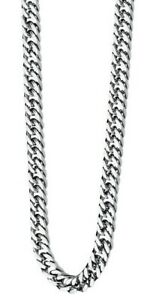 """Fred Bennett 22"""" Polished Stainless Steel Men's Heavyweight Curb Link Necklace"""