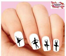 Waterslide Nail Decals Set of 20 - Ballerina Silhouette Assorted