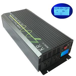 2000W 24V to 230V 50HZ Off Grid Pure Sine Wave Solar Power Inverter Converter